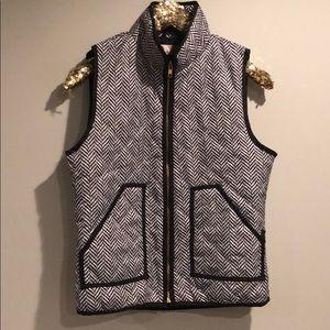 j. crew-like puffer vest